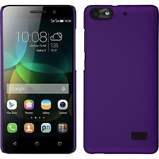 Hardcase for Huawei Honor 4c rubberized purple Cover + protective foils