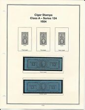 U. S. Revenue Cigar Stamps Class A - Series 124, 1954 PRISTINE (LN107)