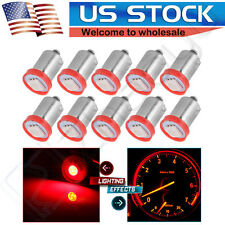 10X Red BA9S 5050 SMD LED Interior PANEL DASH Cluster Ash Tray Light Bulb 3886X