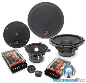 """FOCAL 165 A3 6.5"""" + 4"""" 3-WAY ACCESS COMPONENT SPEAKERS MIDS TWEETERS CROSSOVERS"""