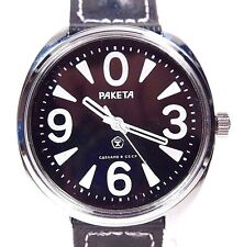 "NEW Russian mechanical watch Raketa ""Big Zero"" 39 mm  Black"