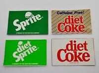 Set mit 4 Coca Cola Diet Coke Sprite Aufkleber USA Stickers Decals 1990