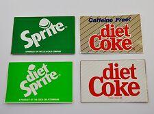 Set con 4 Coca Cola Diet Coke Sprite ADESIVO USA STICKERS DECALS 1990