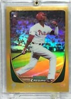 DOMONIC BROWN 2011 PHILLIES Bowman Chrome #12 Gold Refractor Rookie SER #27/50