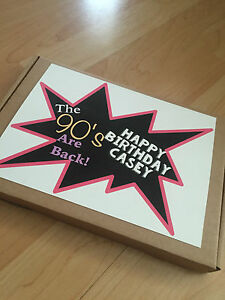 1 Personalised 1990's Retro Sweet Box, Gift, Present for him/her birthday