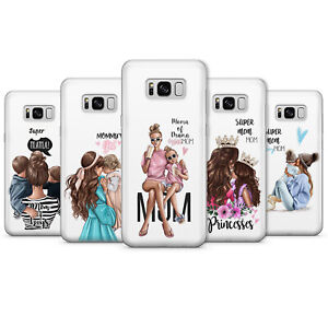 SUPER MOM MOTHER MAMA MUM OF GIRL BOY SON Family phone Cases covers Samsung A20e