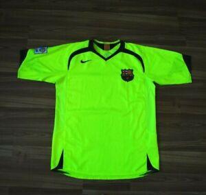 SIZE M BARCELONA THIRD FOOTBALL SHIRT 2006-2007 ORIGINAL VINTAGE JERSEY CAMISETA