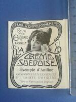 PUB ANCIENNE - PUB ADVERT CLIPPING Crème suédoise pour chausures - 1904