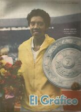 El Grafico Magazine Althea Gibson Tennis Player On Cover 1958