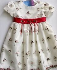 Little Girl Party Dress Flower Girl Dress White Red Size 2T