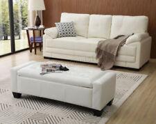 Ottomanes et repose-pieds modernes blancs pour la maison