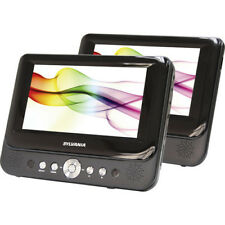 """Sylvania SDVD8737A 7"""" LCD 16:9 Dual Screen Portable Car DVD Media Player"""