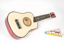 Guitare classique / Acoustique en Bois 63 cm   6 Cordes métal + médiator  Enfant