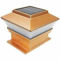 """1 Piece 4""""X4"""" Garden Solar Post Deck Cap Square Fence Light Mount Plastic LED"""