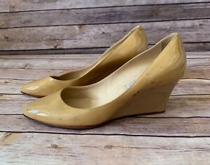 Jimmy Choo Patent Leather Wedge Shoe (Size: 8.5) EUR 38.5