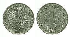 pci0408) Regno Vittorio Emanuele III 25 centesimi valore 1902