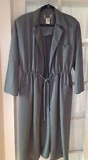 Italian Designer Dress/Coat/Duster Grey Green Color Italian Size 42 US Size 8