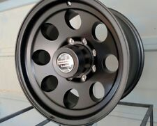 "16x8""  ""black""  bajas'  GENUINE AMERICAN RACING  8 LUG FORD CHEVY DODGE 8X6.5"