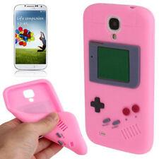 Silikon Case Retro Game Style für Samsung i9500 Galaxy S4 in rosa Etui Hülle
