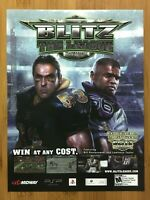 Blitz: The League Xbox 360 PS2 2006 Print Ad/Poster Official NFL Game Promo Art