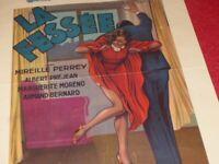 Cinema Plakat Original Belgisches - La Spanking - Perrey Prejean Moreno 1937 RAR
