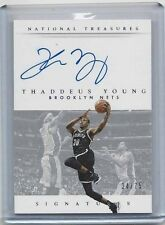 THADDEUS YOUNG 2015 NATIONAL TREASURES SIGNATURES NETS ON CARD AUTO #D 34/75