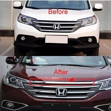 New CR-V Chrome Front TOP Grille Grill cover trim 1 PC For Honda CRV 2012-2014