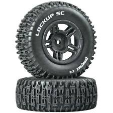 NEW Duratrax Lockup SC Tire C2 Mounted Black Rear Slash (2) DTXC3671