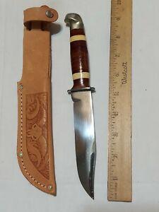 Hunting Knife Utica Sportsman USA with Leather Sheath