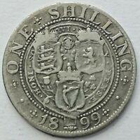 1899 Queen Victoria Silver Shilling (1899-SH-3)