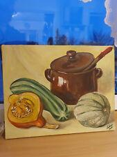 Gemälde Stillleben Topf mit Gemüse Bild 40x50cm