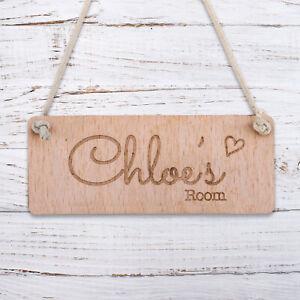 Personalised Wooden Door Garden Signs Chic Hanging Plaques Custom Name Date