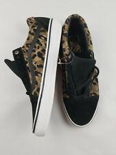 VANS Old Skool  Black Leopard Skateboarding Shoes Mens 8.5 Womens 10