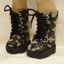 "Camo Print Boots - Fits American Girl Dolls or Boy Doll Logan - 18"" Dolls"