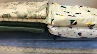 Fabric Quilting Start Lot Material Floral Pattern Plain Blue Green & More Craft