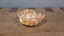 Ercole Barovier Vintage Murano Glass Gold and Pink Bowl