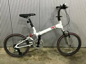 Bridgestone Transit TS-7 DUAL SUSPENTION / Used folding bike / White color