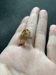 tiffany 18k rose gold Diamond Square Wrap Ring size 7  $2700