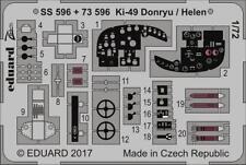 Eduard Zoom SS596 1/72 Nakajima Ki-49 Donryu T.100 Bombardier lourd de type II Helen