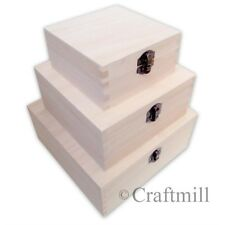 3 in 1 Plain Wooden boxes - decorate your own box /gift