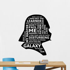 Star Wars Darth Vader Quotes Wall Decal Vinyl Sticker Decor Poster Mural 188crt