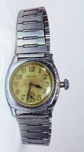 c. 1907-20s Waltham Watch Deco Cushion Case 7J 361 grade 3/0 WWI trench watch