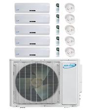 5 Zone Ductless Mini Split Air Conditioner Heat Pump 5 x 9 Mitsubishi Compressor