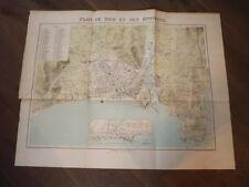 GRANDE CARTE PLAN DE NICE 1880