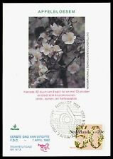 NIEDERLANDE MK 1982 FLORA APFELBLÜTEN MAXIMUMKARTE CARTE MAXIMUM CARD MC CM bv95