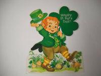Vintage Hallmark Happy St. Pat's Day! Laminated Die Cut Decoration 1986 New!