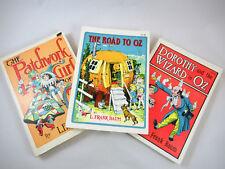 Lot of 3 Oz PB Rand McNally L Frank Baum Dorothy Wizard Road Patchwork Girl