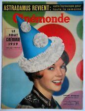 ►CINE MONDE 1272/1958-DAWN ADDAMS-ROMY SCHNEIDER-ALAIN DELON-ROBERT WAGNER-WOOD