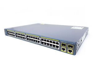 CISCO WS-C2960-48PST-S 48-Port PoE  Switch 2 SFP + 2 Gigabit ports