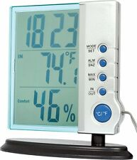 Digital clock weather station big LCD temperature humidity desktop display